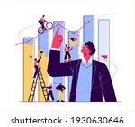 financial advisor illustration  ... | Shutterstock .eps vector #1930630646