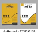 restaurant food menu flyer... | Shutterstock .eps vector #1930651130