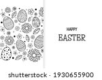 easter greeting card with... | Shutterstock .eps vector #1930655900