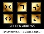 golden arrows vector set...