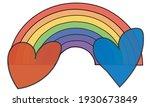 rainbow colourful heart peace... | Shutterstock .eps vector #1930673849