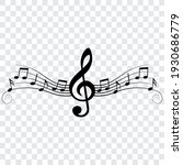 Music Notes And Treble Clef ...