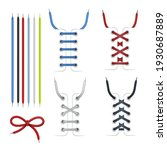 collection colorful tied and... | Shutterstock .eps vector #1930687889