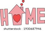 the name home formed with the... | Shutterstock .eps vector #1930687946