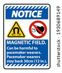 notice magnetic field can be... | Shutterstock .eps vector #1930689149