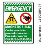 emergency magnetic field can be ... | Shutterstock .eps vector #1930689179