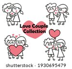 love couple  with heart ... | Shutterstock .eps vector #1930695479