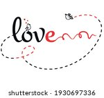 i love you simple and neat art  | Shutterstock .eps vector #1930697336