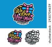 mother day badge label sticker... | Shutterstock .eps vector #1930704659