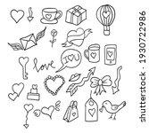 valentine doodle  design vector ... | Shutterstock .eps vector #1930722986