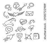 valentine doodle  design vector ... | Shutterstock .eps vector #1930722989