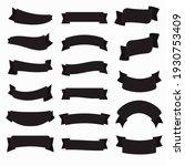 black ribbon banners vector...   Shutterstock .eps vector #1930753409
