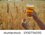 Woman's Hand Holding A Beer...