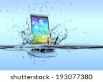 one smartphone that falls in... | Shutterstock . vector #193077380