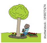 an image of man planting... | Shutterstock .eps vector #193077674
