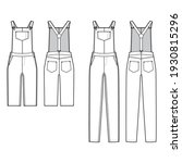 Set Of Denim Dungarees Overall...