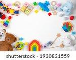 Baby kids toys frame. set of...