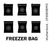 set of vector frozen food bag.... | Shutterstock .eps vector #1930838993