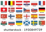 flags of participating teams...   Shutterstock .eps vector #1930849739