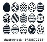 easter eggs collection. vector... | Shutterstock .eps vector #1930872113