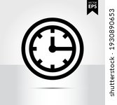 clock icon in trendy style...