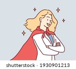 successful super woman. hand... | Shutterstock .eps vector #1930901213
