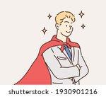 successful super man. hand... | Shutterstock .eps vector #1930901216