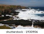 View of Philip island. Photo taken near Nobbies and Seal Rocks (Australia, Victoria) - stock photo