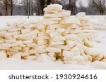 Loosely Built Snow Bricks  Wall ...