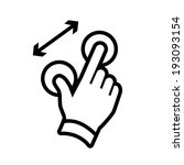 vector modern flat design hand... | Shutterstock .eps vector #193093154