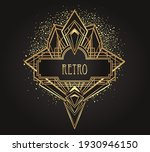 art deco vintage gold patterns...   Shutterstock .eps vector #1930946150
