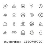 nature related vector icon set. ... | Shutterstock .eps vector #1930949720