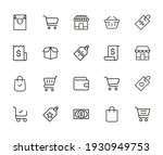 vector line icons collection of ... | Shutterstock .eps vector #1930949753