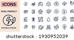 ecology thin line icons vector ... | Shutterstock .eps vector #1930952039