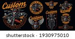 custom motorcycle labels set... | Shutterstock .eps vector #1930975010