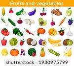 set of fresh healthy vegetables ... | Shutterstock .eps vector #1930975799