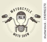 chopper moto handlebar and... | Shutterstock .eps vector #1930982270