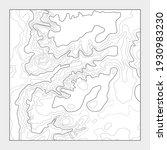 topographic contour map... | Shutterstock .eps vector #1930983230
