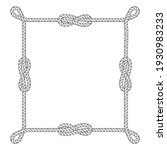 square rope frame with knots... | Shutterstock .eps vector #1930983233