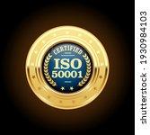 iso 50001 standard medal  ... | Shutterstock .eps vector #1930984103