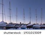 Row Of Sailboats Docked At The...
