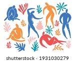 set of trendy doodle and... | Shutterstock .eps vector #1931030279