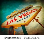 famous welcome to las vegas... | Shutterstock . vector #193103378