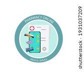 online pharmacy on a round... | Shutterstock .eps vector #1931037209