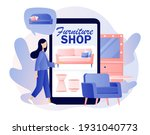 furniture and home accessories... | Shutterstock .eps vector #1931040773