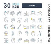 stroke. collection of perfectly ... | Shutterstock .eps vector #1931048009
