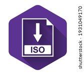 white iso file document icon.... | Shutterstock .eps vector #1931049170