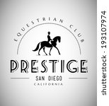 Stock vector elegant horse club emblem 193107974