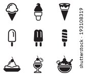 ice cream icons | Shutterstock .eps vector #193108319