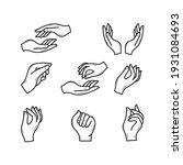hand gesture vector... | Shutterstock .eps vector #1931084693